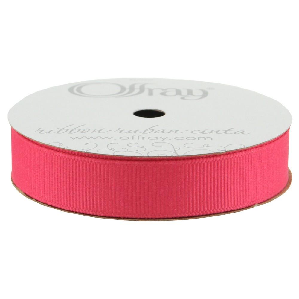 "Image of ""Offray Grosgrain Ribbon - 5/8"""" x 21ft - Shocking Pink"""
