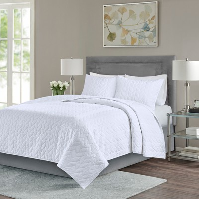 White Wiley Coverlet Set (King/California King)