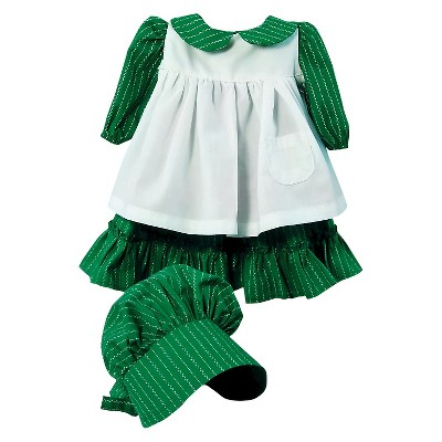 "The Queen's Treasures Little House on the Prairie 18"" Doll Clothes Prairie Dress 3pcs"