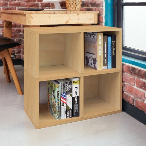 Under Desk Storage 4 Cubby Bookshelf Eco Friendly And Formaldehyde Free Natural