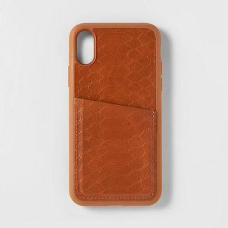 heyday™ Apple iPhone X/XS Case with Pockets - Tan Crocodile