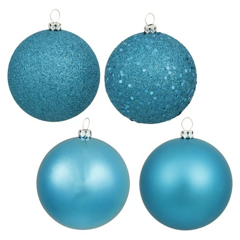 About this item - Shatterproof Christmas Ball Ornament Set Turquoise... : Target