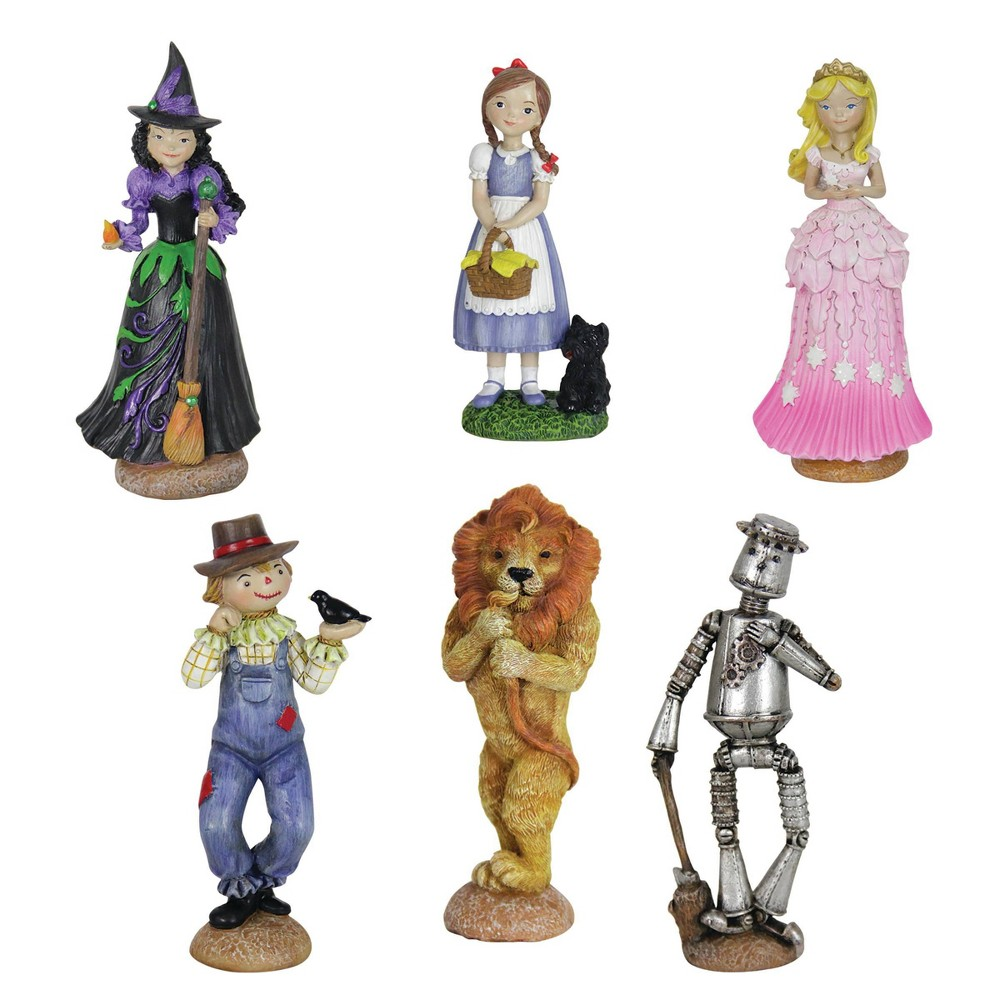 Coupons 6pc Resin Oz Land Mini Fairy Tale Garden Set - Exhart