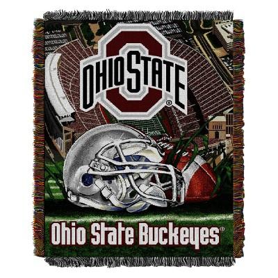 NCAA Ohio State Buckeyes Home Field Advantage College Throw Blanket