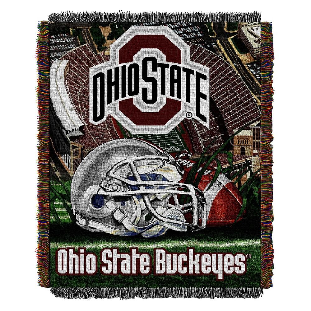 Ohio State Buckeyes Home Field Advantage College Throw Blanket