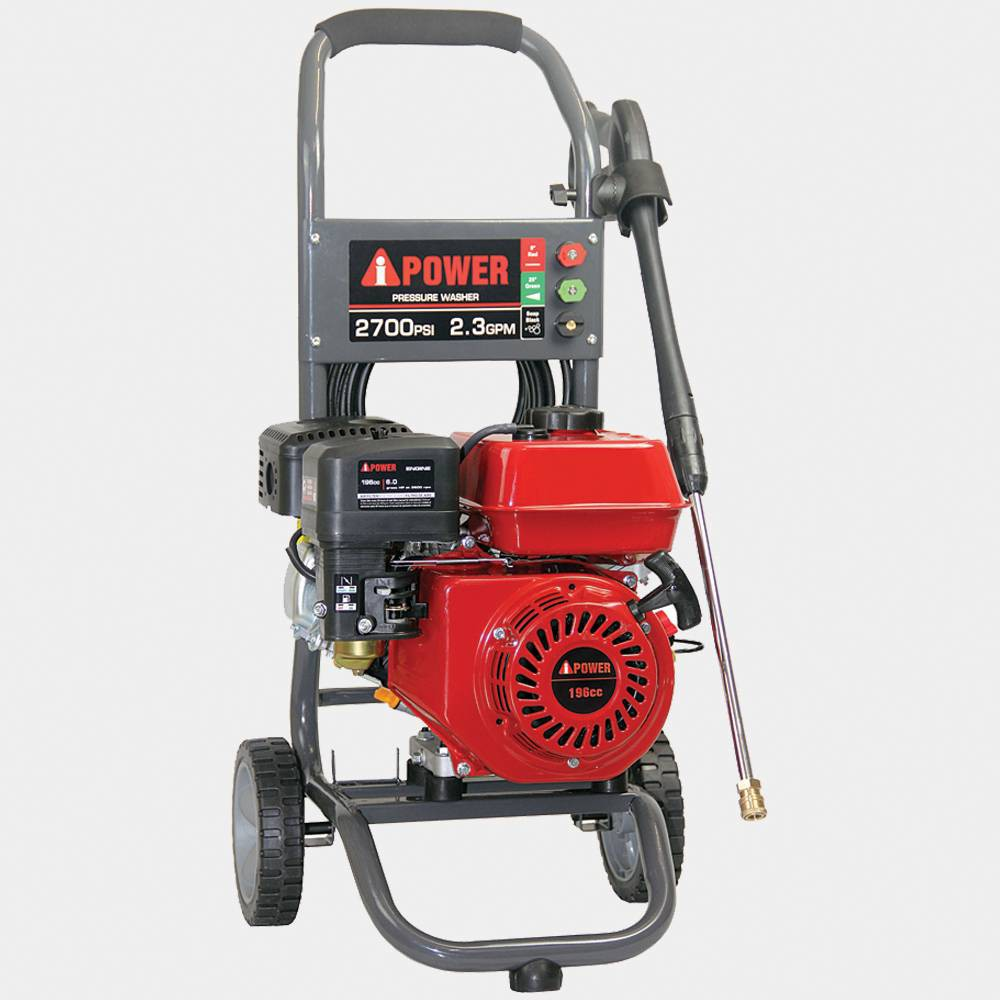 "Image of ""34"""" 2700Psi High Pressure Washer Red - A-iPower, Red Black"""