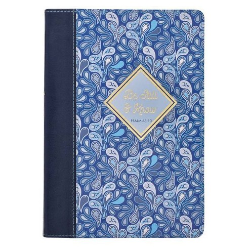 Journal Classic Blue Paisley Be Still & Know - (Paperback) - image 1 of 1