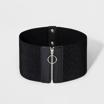 ba1d3046570 Women s 1 Waist Zipper Belt - Wild Fable™ Black   Target