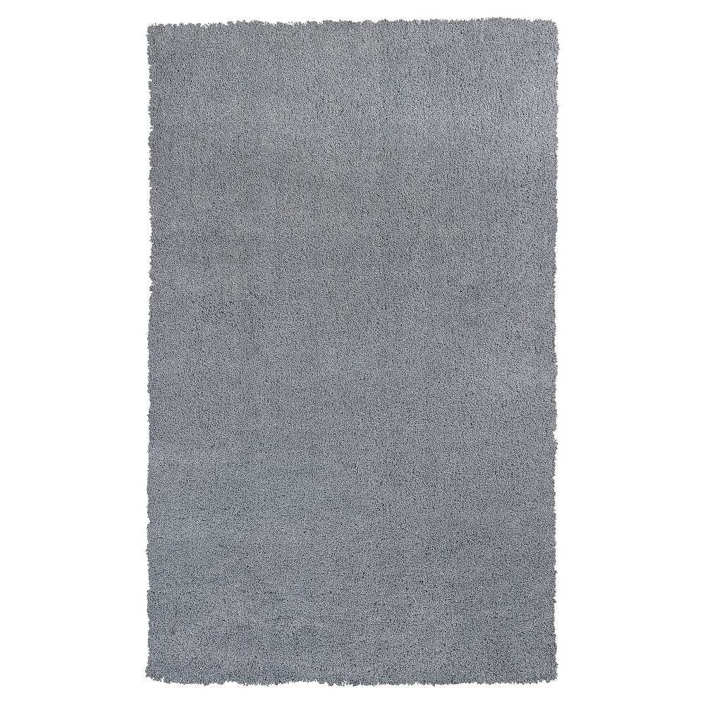Gray Solid Woven Accent Rug 27 X45 Kas Rugs