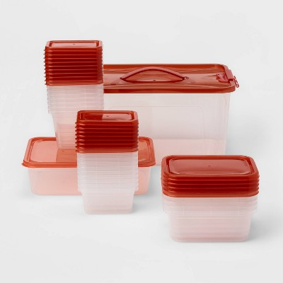 50pc Food Storage Container Set Red - Room Essentials™