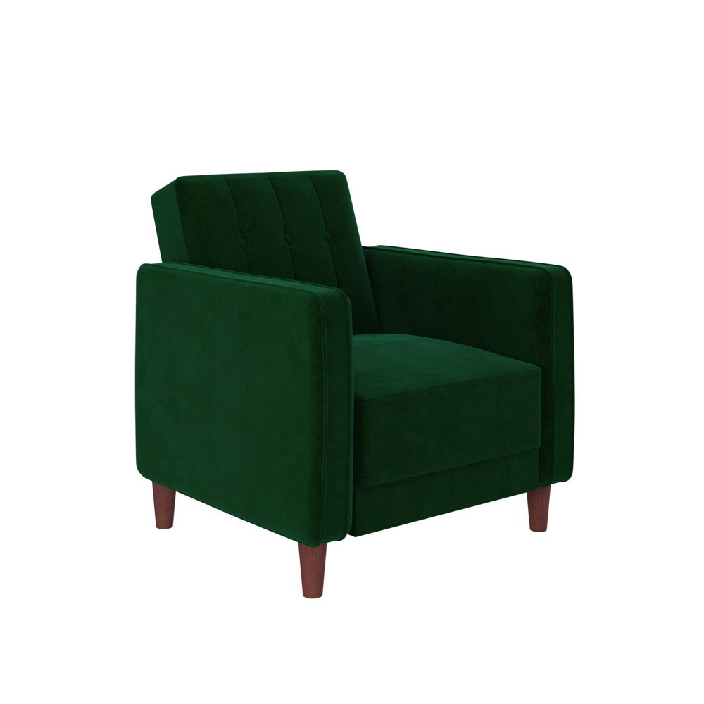 Isabella Tufted Accent Chair Green - Room & Joy