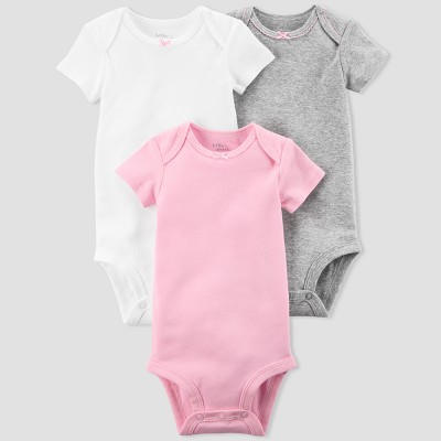 Baby Girls' 3pk Bodysuit Set - little planet™ organic by carter's® Pink/White 3M