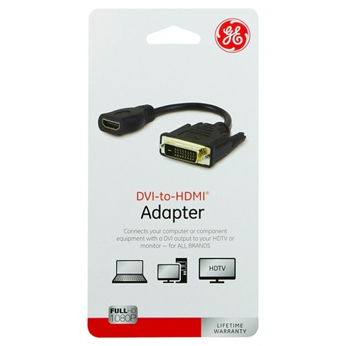 GE DVI to HDMI Adapter - Black - image 1 of 1