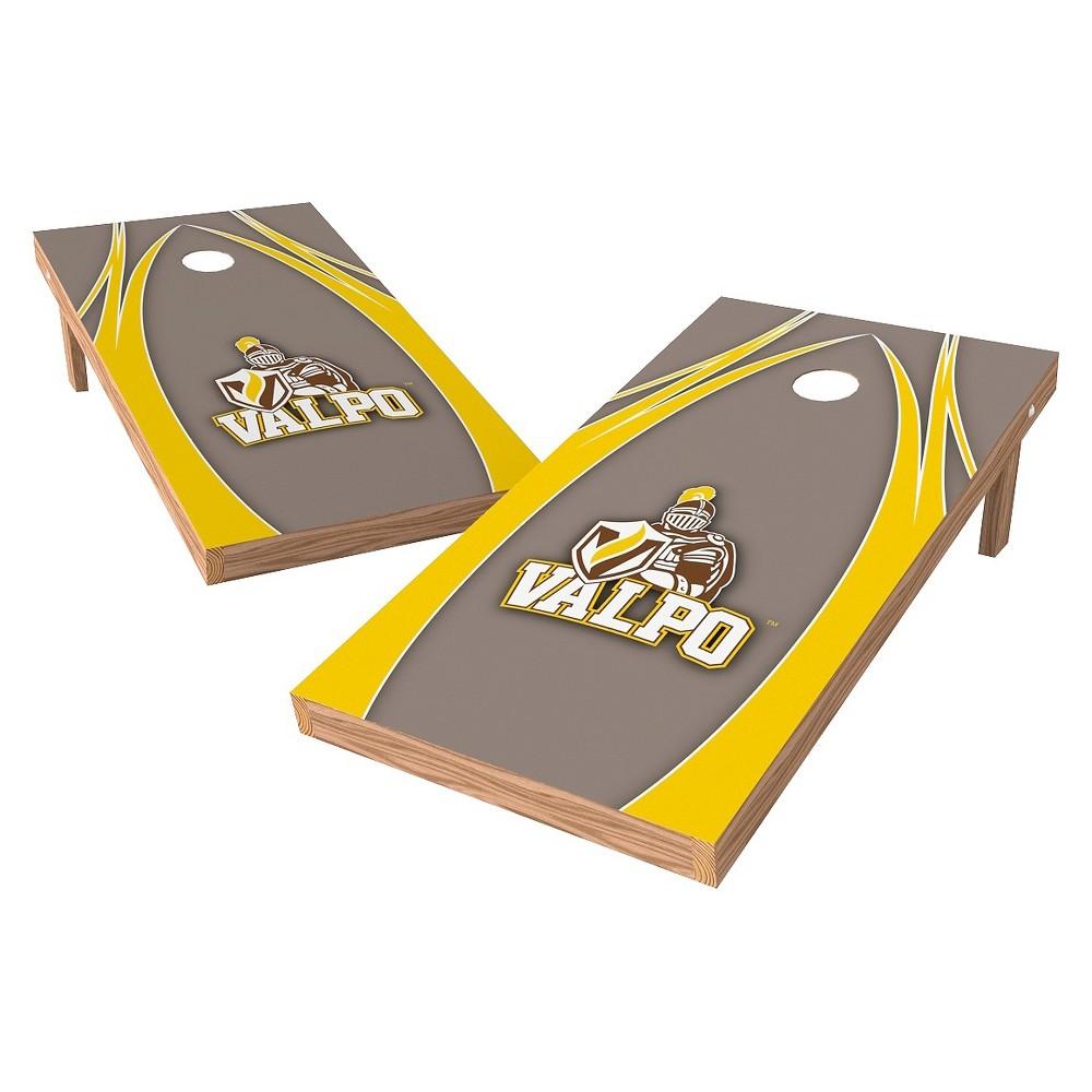 Valparaiso Crusaders Wild Sports 2' x 4' V Logo Design Authentic Cornhole Set