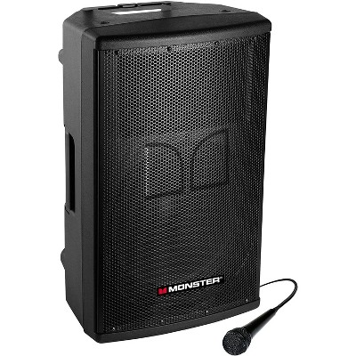 Monster PAX-500 All-in-Portable-PA System, 500 Watts, Wired Microphone Included, Connect Wirelessly