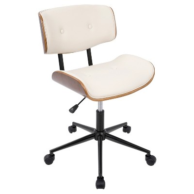 Lombardi Mid-Century Modern Office Chair With Swivel - LumiSource  Target  sc 1 st  Target & Lombardi Mid-Century Modern Office Chair With Swivel - LumiSource ...