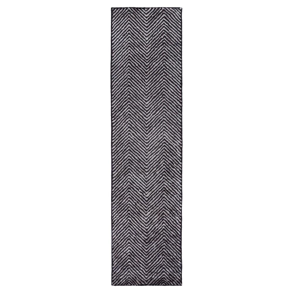 Gray Solid Woven Runner - (2'6X10' Runner) - Surya, Medium Gray