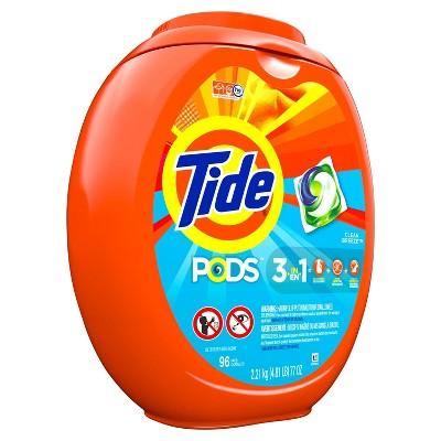 Tide Pods Laundry Detergent Pacs Clean Breeze Scent - 96ct