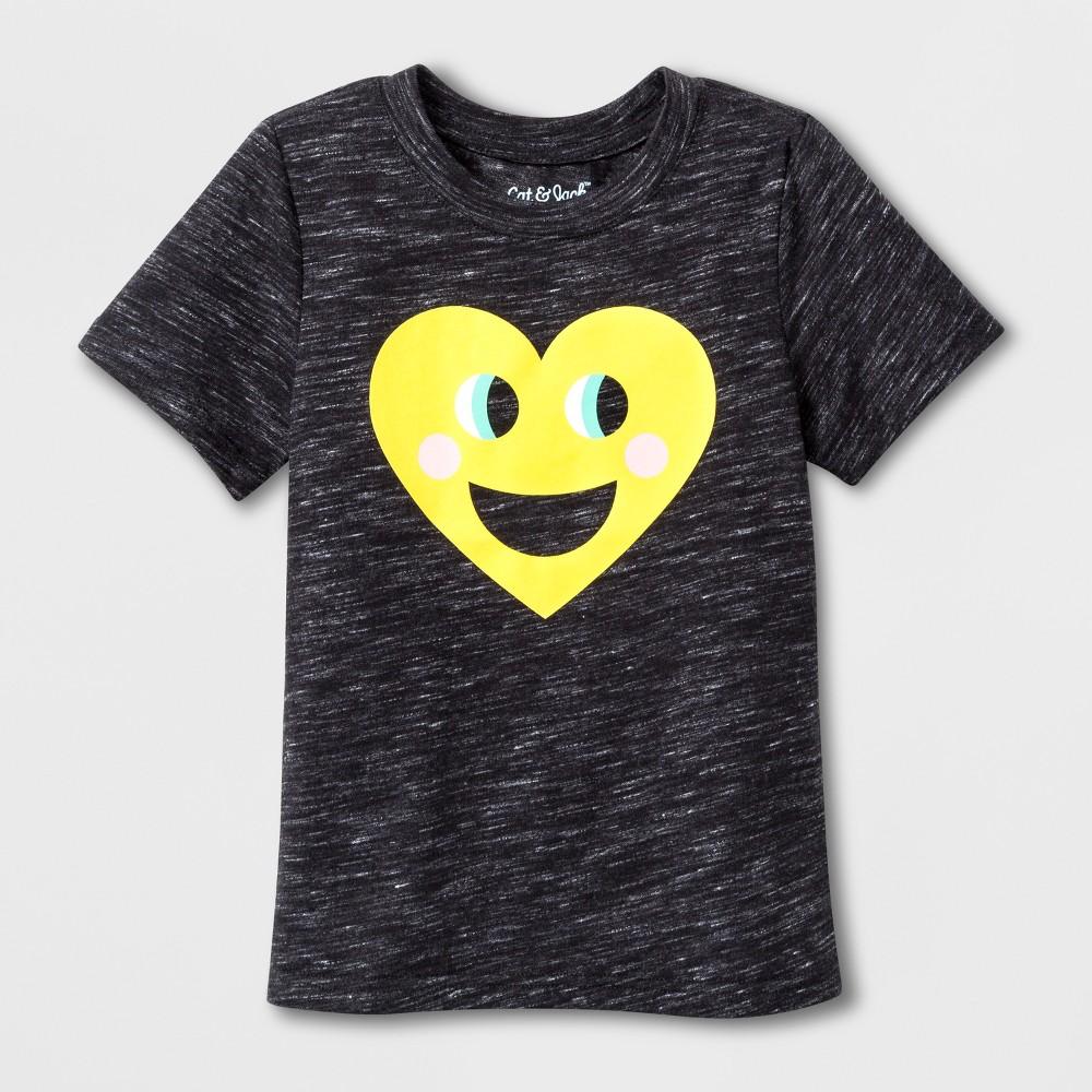 Toddler Short Sleeve Emoji T-Shirt - Cat & Jack Black 4T, Toddler Unisex