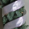 """Northlight Shiny Silver Diagonal Striped Wired Christmas Craft Ribbon 2.5"""" x 10 Yards - image 3 of 3"""