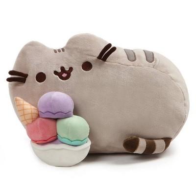 "GUND Pusheen 12"" Snackables Sundae Plush Stuffed Cat - Gray"