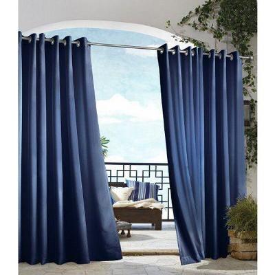 Outdoor Decor In & Outdoor Gazebo Solid Grommet Top Window Curtain Panel