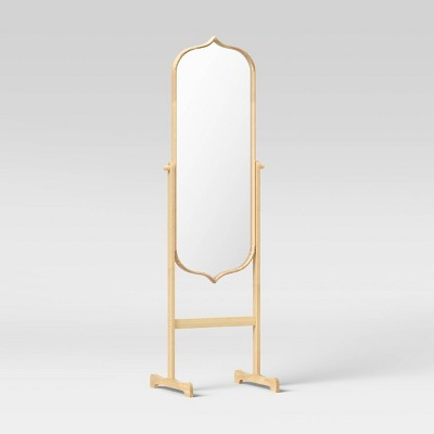 "20"" x 66"" Top and Bottom Peak Standing Mirror Natural - Opalhouse™"
