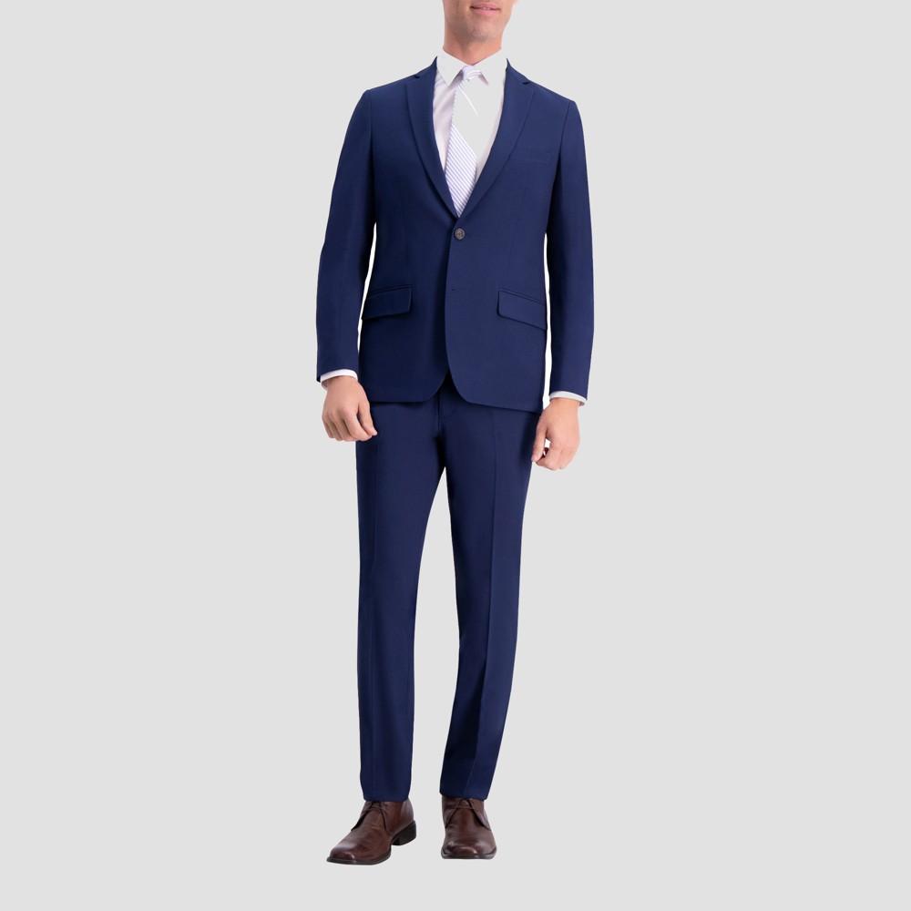 Haggar H26 Men's Slim Fit Premium Stretch Suit Jacket - Bright Blue 38 Regular