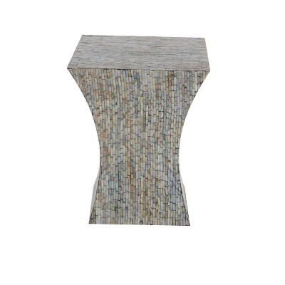 Contemporary Shell Inlaid Accent Table Brown - Olivia & May
