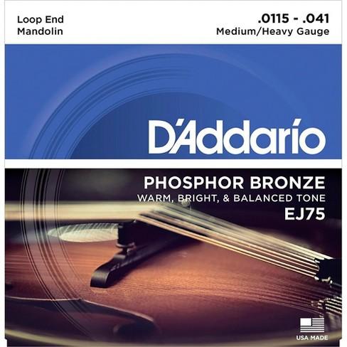 D'Addario EJ75 Phosphor Bronze Medium/Heavy Mandolin Strings (11.5-41) - image 1 of 4
