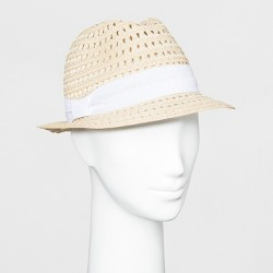 a5e2e164b9e43 Women s Color Block Tassel Fedora - A New Day™ Light Tan   Target