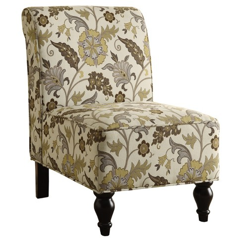 Stupendous Accent Chair Brown Gold Floral Fabric Everyroom Gmtry Best Dining Table And Chair Ideas Images Gmtryco