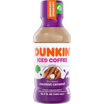 Dunkin Donuts Coconut Caramel Iced Coffee Beverage - 13.7 fl oz Bottle