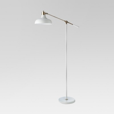 Crosby Schoolhouse Floor Lamp White (Includes LED Light Bulb)- Threshold™