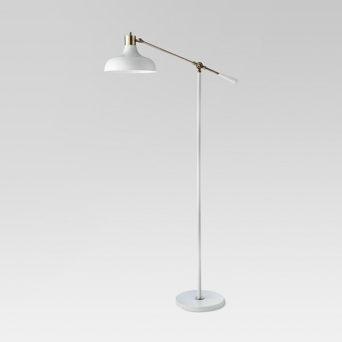 Crosby Schoolhouse Floor Lamp White - Threshold™ - image 1 of 4