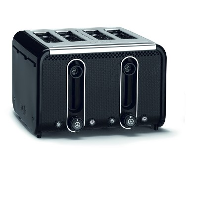 Studio 4 Slice Black Toaster - Black 46430
