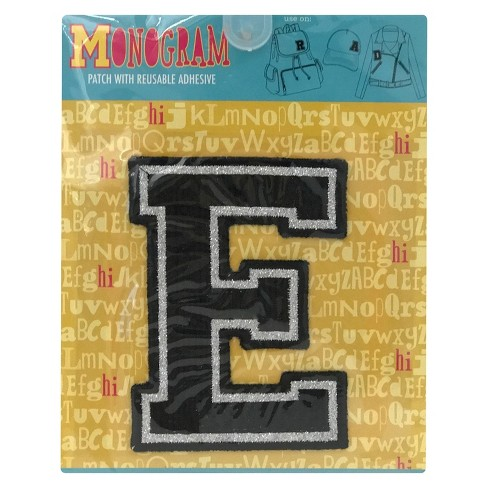 Fashion Assorted Letters E Patch With Reusable Adhesive - image 1 of 1