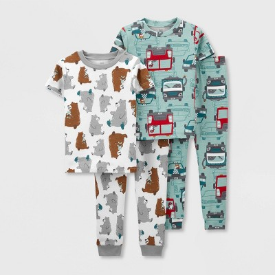 Toddler Boys' 4pc Rescue/Bear Pajama Set - Just One You® made by carter's White/Red/Brown