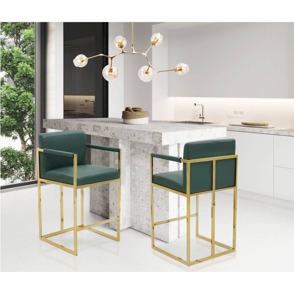 Bertrand Counter Stool Green - Chic Home Design was $329.99 now $230.99 (30.0% off)