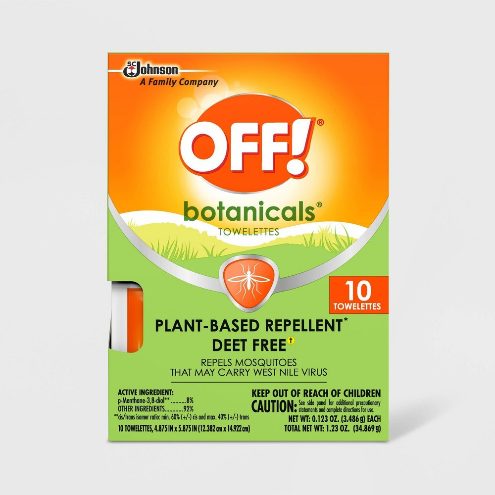 Image of OFF! 10ct Botanicals Insect Repellent Towelettes