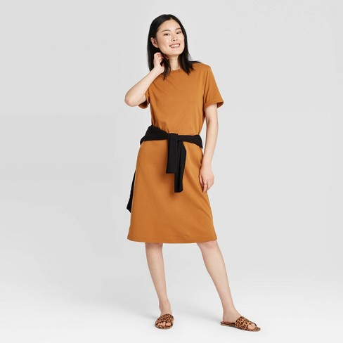 Women's Short Sleeve T-Shirt Dress - New Day™ - image 1 of 3