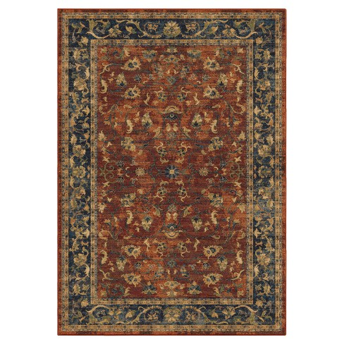 "Red Floral Woven Area Rug 5'3""X7'6"" - Orian - image 1 of 3"