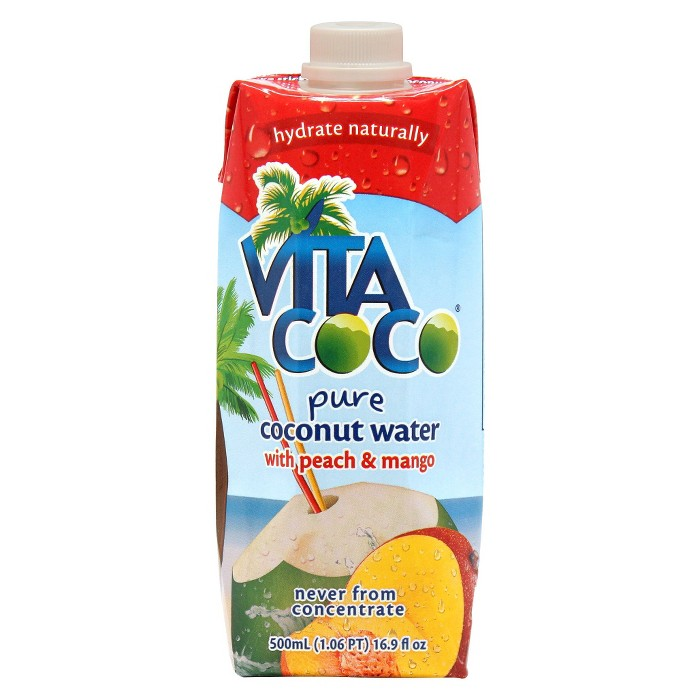 Vita Coco Pure Coconut Water Peach - 16.9 fl oz Carton - image 1 of 3