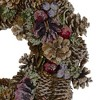 Northlight Sugared Purple and Red Pine Cone Artificial Christmas Wreath - 13-Inch, Unlit - image 3 of 3