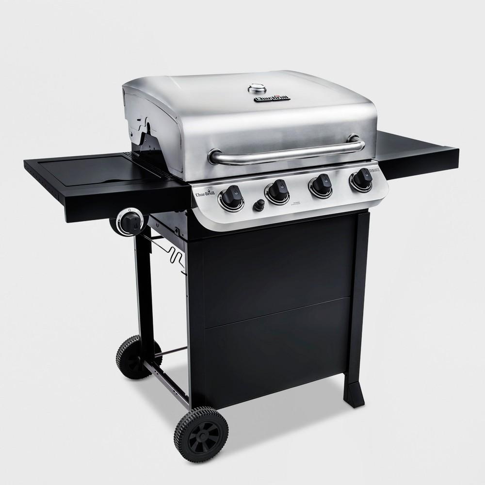 Char-Broil Performance 475 4 – Burner 36,000 Btu Gas Grill with Side Burner, Silver 51397376