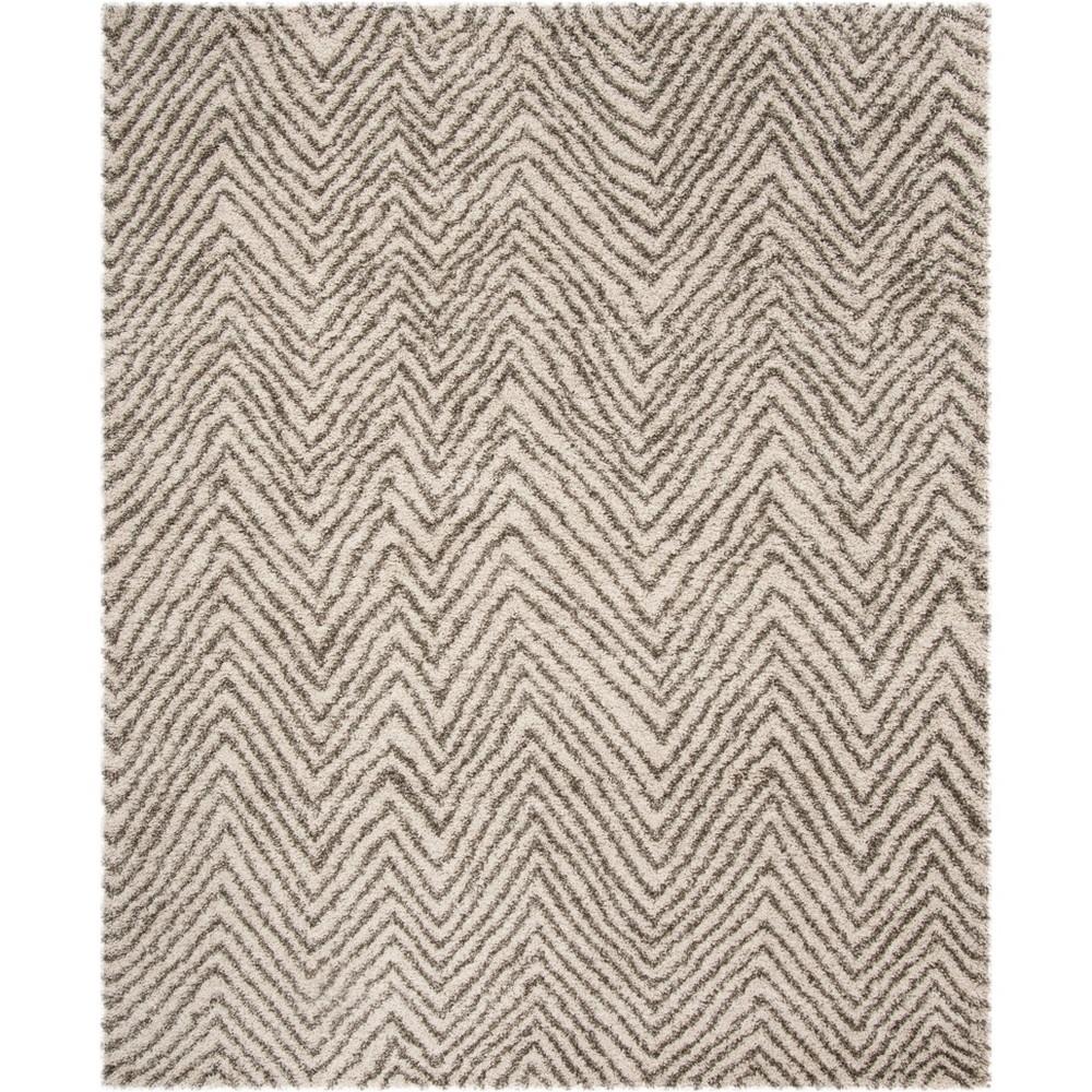 8'X10' Chevron Loomed Area Rug Ivory/Gray - Safavieh, White
