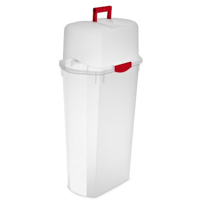 Sterilite 30  Wrap Box Clear with Red Handle and Latches