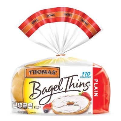 Thomas' Plain Bagel Thins - 13oz/8ct