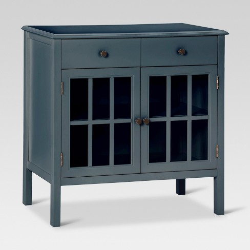 Windham 2 Door Cabinet With Drawers - Overcast - Threshold™ : Target