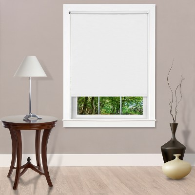 Cords Free Tear Down Light Filtering Window Shade White 37x72 - Achim